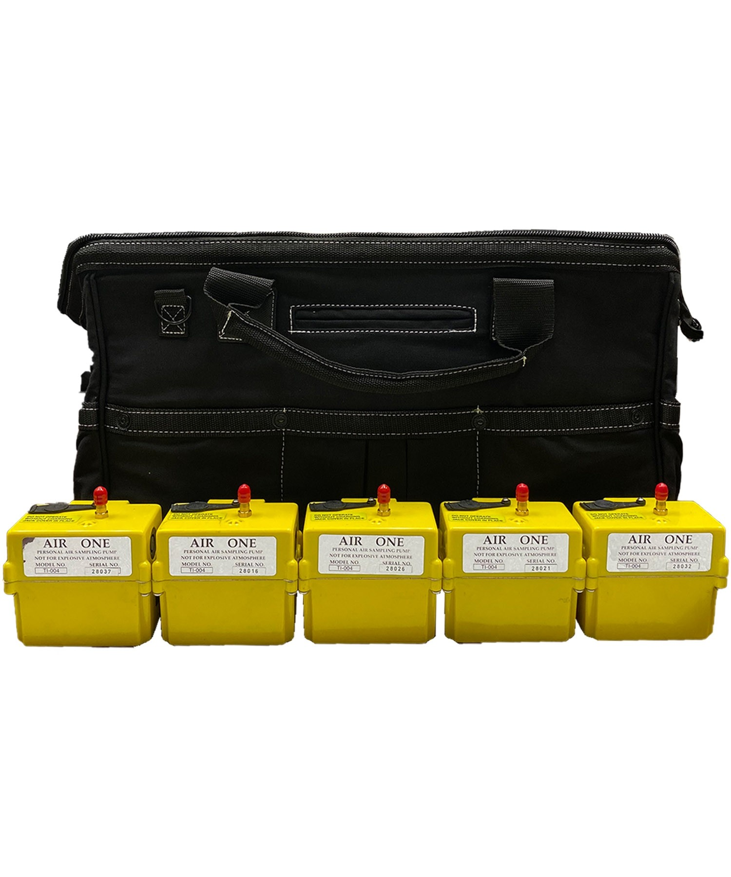 "Air-One 5-Pump Kit for Lead and Asbestos Air Sampling in 20"" CANVAS WORK BAG w/custom foam"