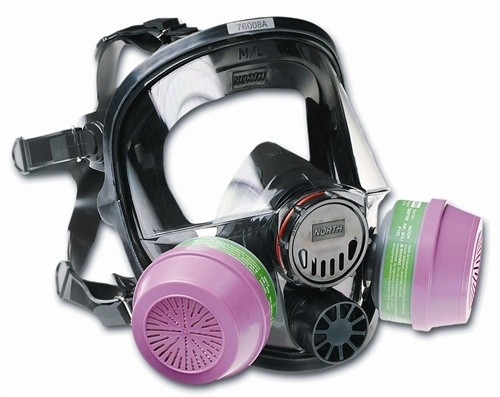 North by Honeywell 7600 Series Full Face Respirator - Medium/Large
