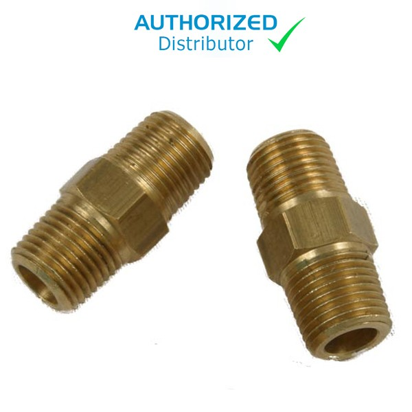 Straight Brass Fitting 1/8 x 1/8 (Pump to Valve) Gast 1531/Megalite