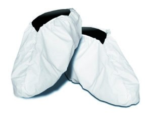 Dansafe Shoe Covers, PE Coated Polypropylene, White, Elastic