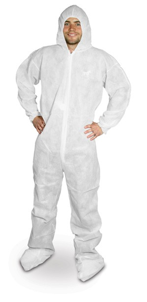 Basic Coverall/Hood/Boots/Elastic Wrist & Ankles (L)