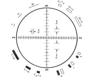 Walton-Beckett G-22 Graticule (19mm) for CX21
