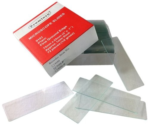 1 x 3 Plain Microscope Slides, Premiere 9100 series, 1 mm/1gr
