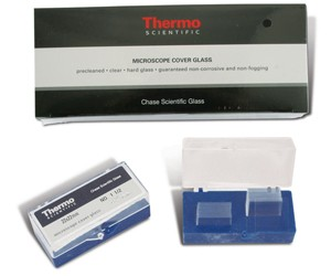 Chase Brand Microscope Cover Glass #1.5 Thickness 100/box