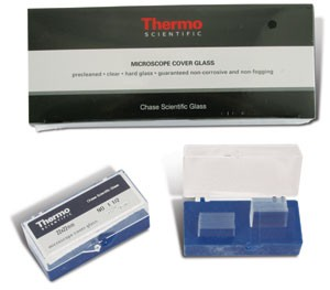 22 x 22mm Chase Brand Microscope Cover Glass #1.5 Thickness 1000/box