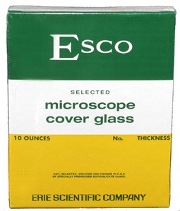 "22 x 22mm Cover Glass #1.5, Esco Brand ""Premium"" (100/ea)"