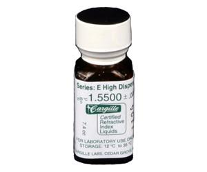 Cargille liquid, Series E; 1.550, 1/4 oz.