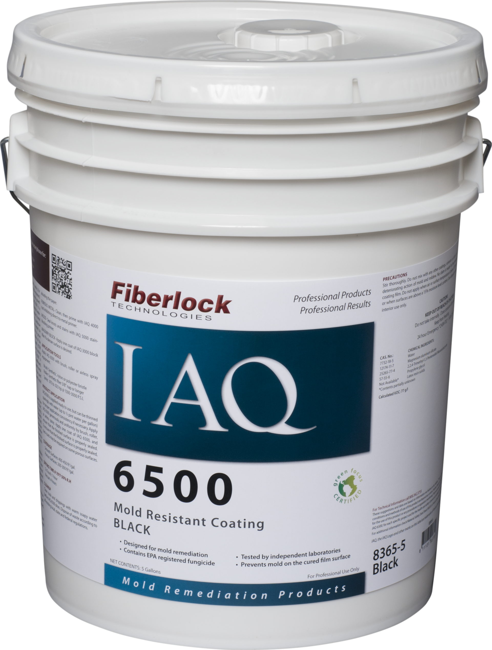 Fiberlock IAQ 6500 Coating/BLACK FINISH (5 gal.)