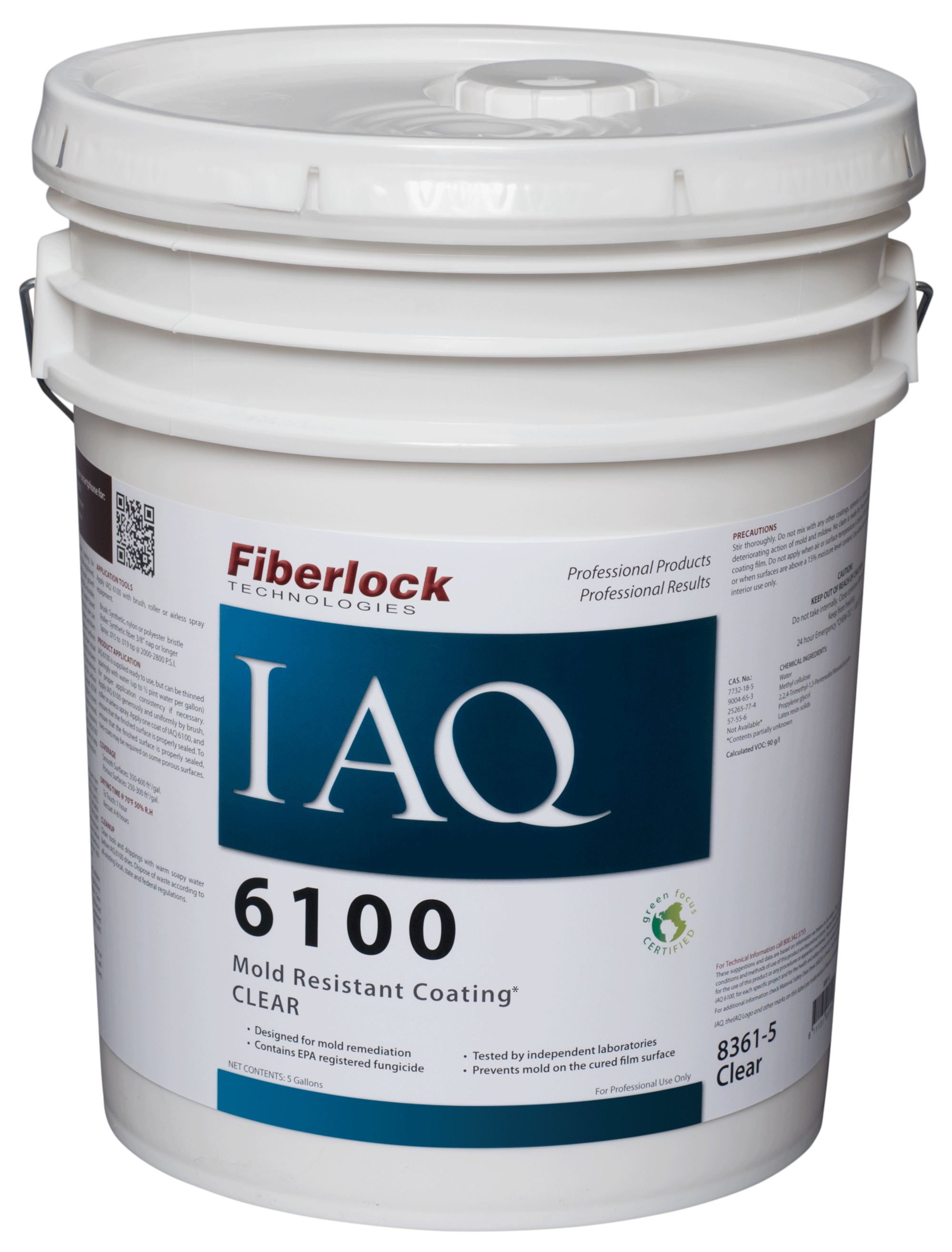 Fiberlock IAQ 6100 Coating/CLEAR FINISH (5 gal.)