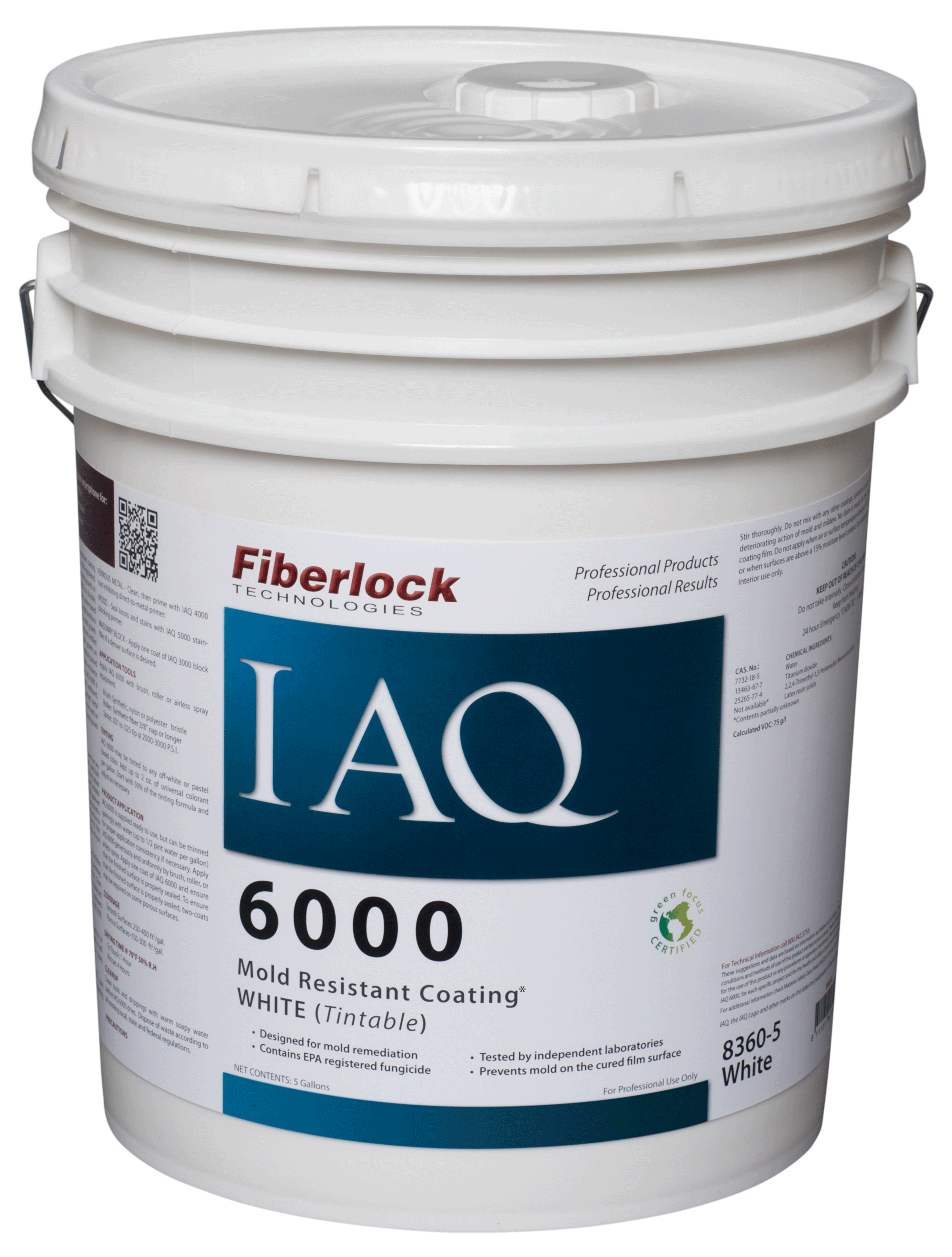 Fiberlock IAQ 6000 Coating/WHITE FINISH (5 gal.)