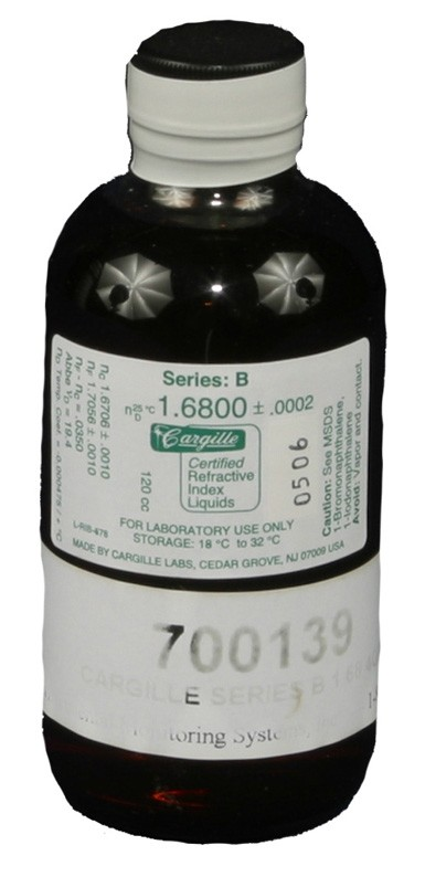 Cargille liquid, Series B; 1.680, 4 oz.