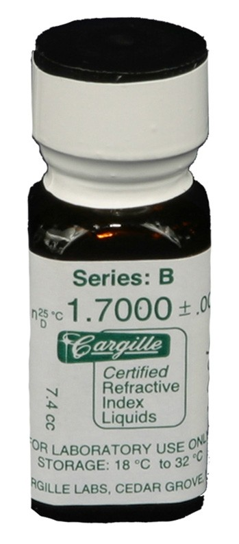 Cargille liquid, Series B; 1.70, 1/4 oz.