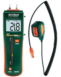 Extech MO265 Combination Pin/Pinless Moisture Meter with Remote Probe