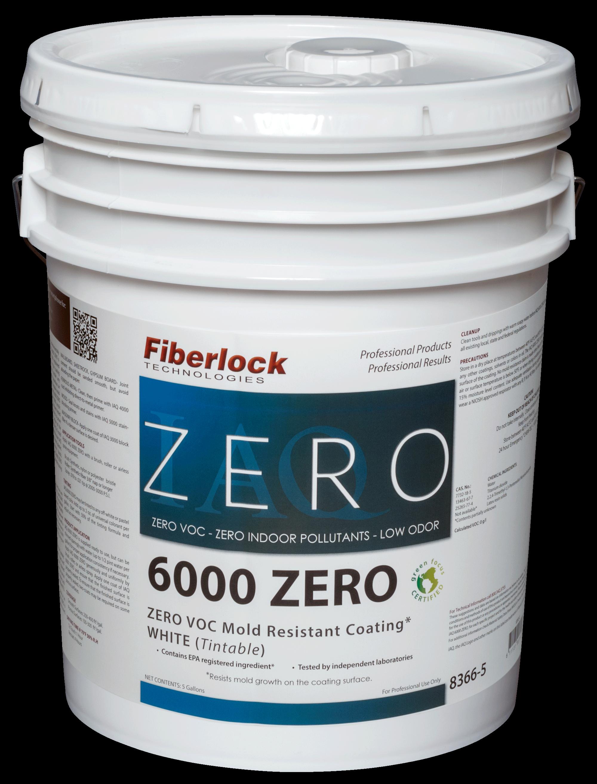 Fiberlock IAQ 6000 ZERO Coating/WHITE FINISH (5 gal.)