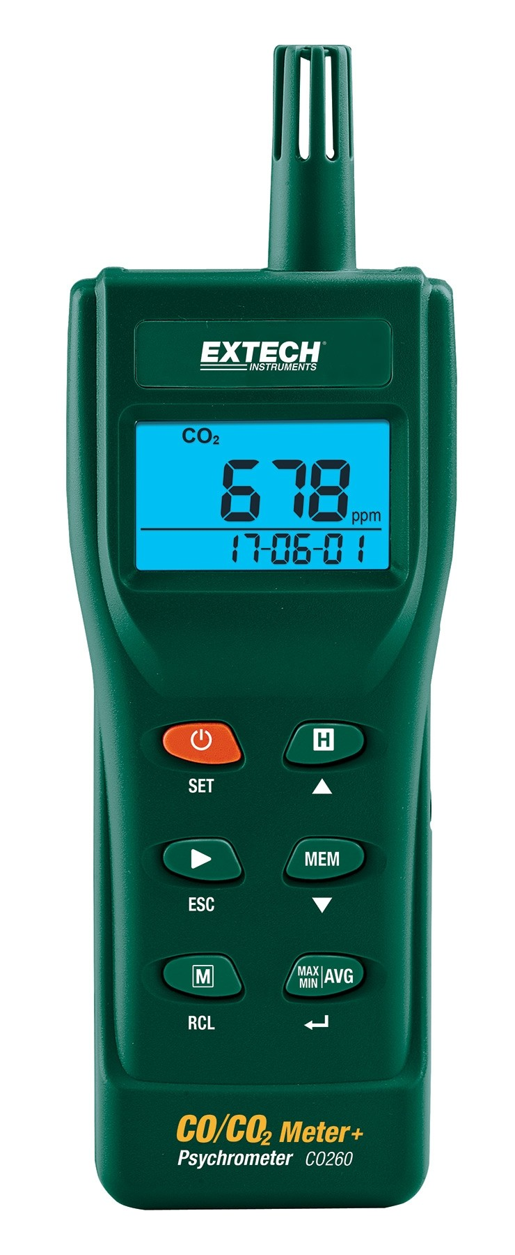 Extech CO260 Indoor Air Quality CO/CO2 Meter/Datalogger