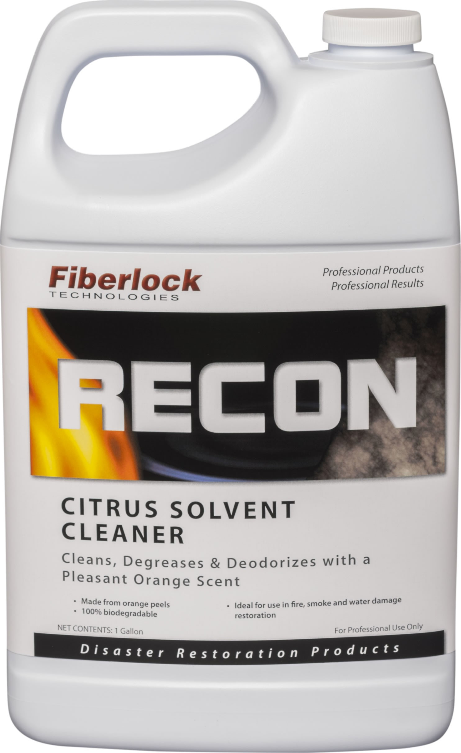 Fiberlock RECON Citrus Solvent Cleaner/Degreaser 1G (4/Case)