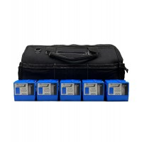 "Sensidyne Gilian BDX-II 5-Pump Kit w/ 5 Single Chargers in 20"" CANVAS WORK BAG w/custom foam"
