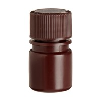 Wheaton Amber Polyethylene Narrow Mouth Bottle, 8ml