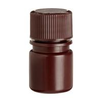 Wheaton Amber Polyethylene Narrow Mouth Bottle, 8ml