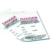 Zip-Bag 3 x 5 Danger, 1000/ea